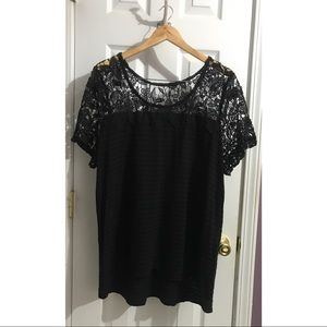 Lane Bryant Black Lace Plus Size Top 22/24